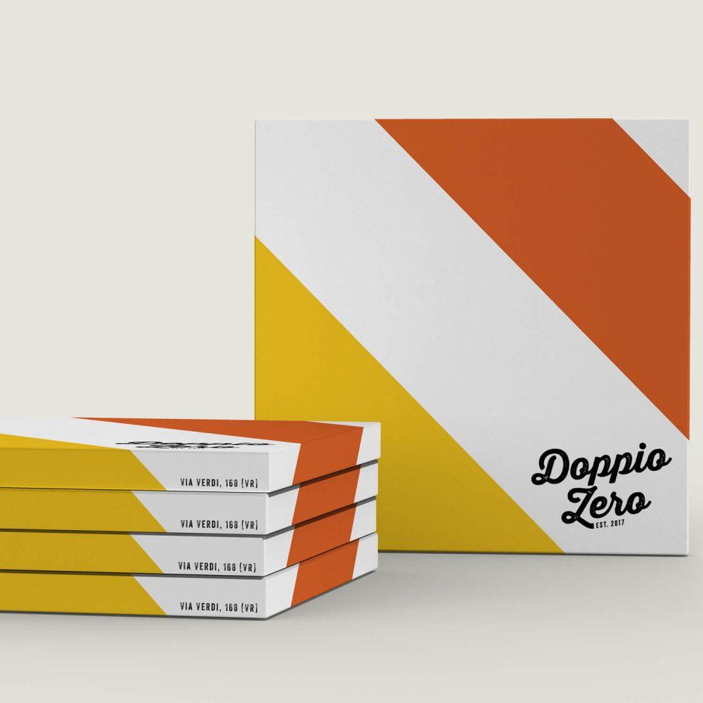 Scatola pizza Doppio Zero Fivesix Studio Agenzia di comunicazione Vicenza