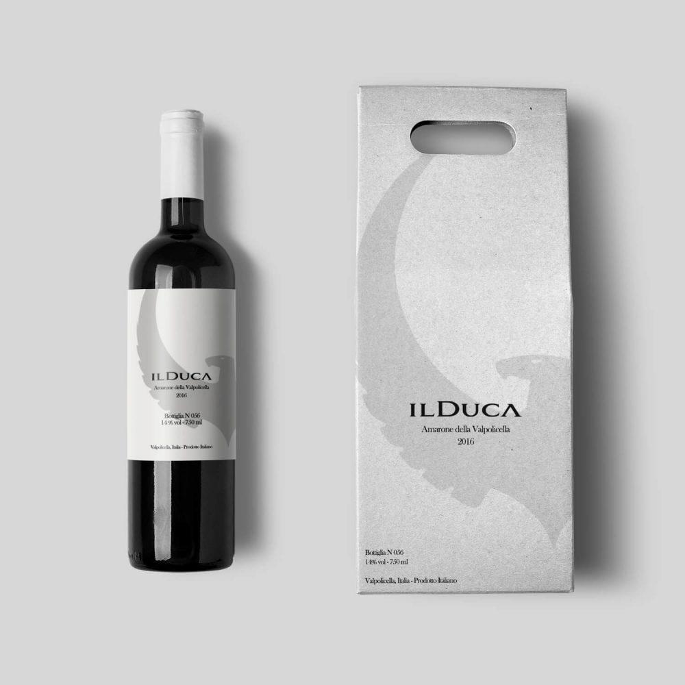 Bottiglia e confezione Il Duca Fivesix Studio Agenzia di comunicazione Vicenza