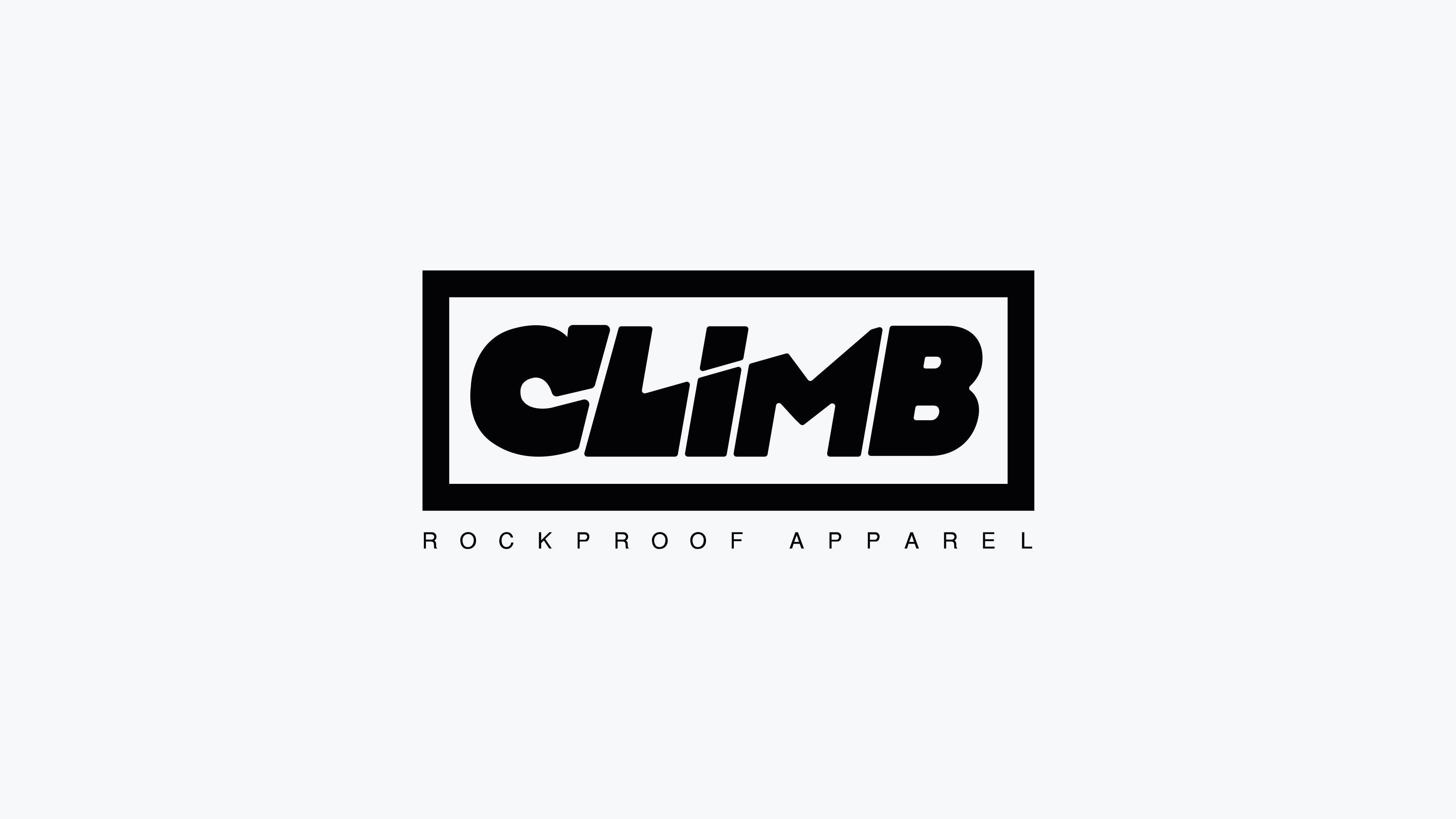 Climb logo nero Fivesix Studio Agenzia di comunicazione Vicenza